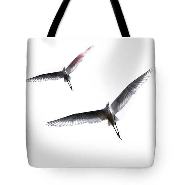 Dance Of The Egrets Tote Bag