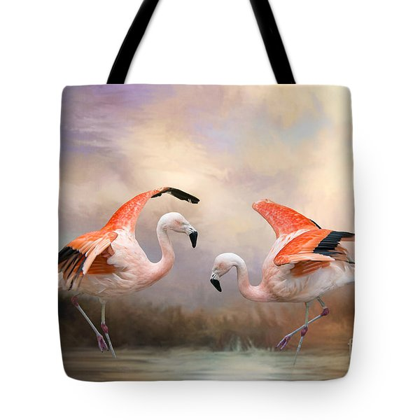 Dance Of The Flamingos  Tote Bag