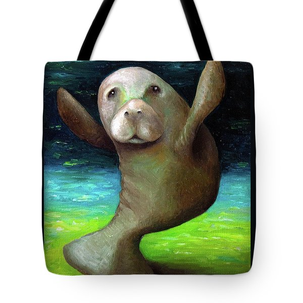 Dance Of The Manatee Tote Bag by Leah Saulnier The Painting Maniac