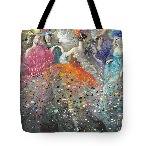 Dance Of The Muses Tote Bag
