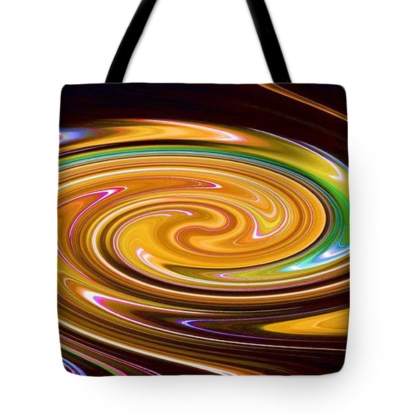 Tote Bag featuring the painting Dance Of The Northern Lights by Carolyn Repka