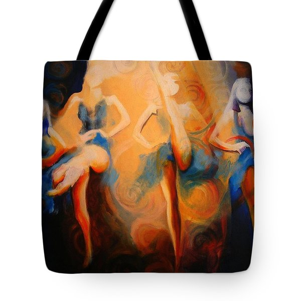 Dance Of The Sidheog Tote Bag by Georg Douglas