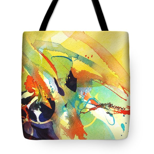 Tote Bag featuring the painting Dance by Rae Andrews