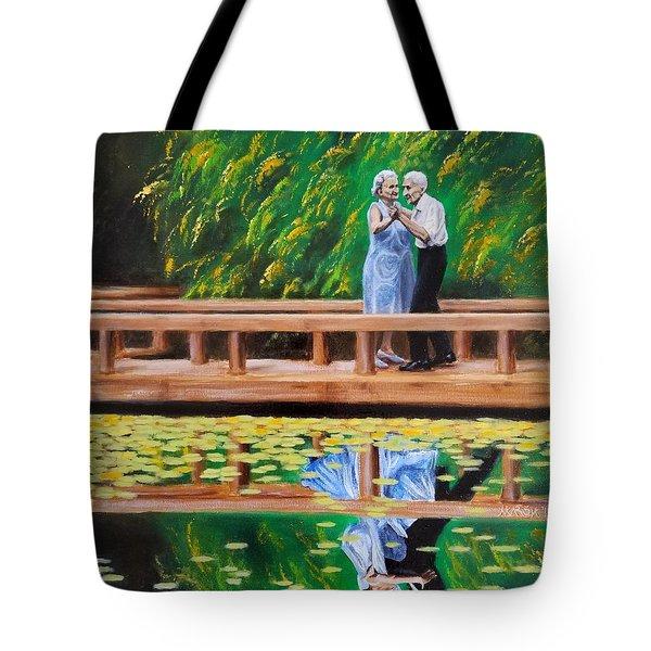 Dance Reflection Tote Bag