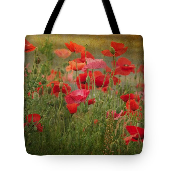 Dance Through The Poppies Tote Bag