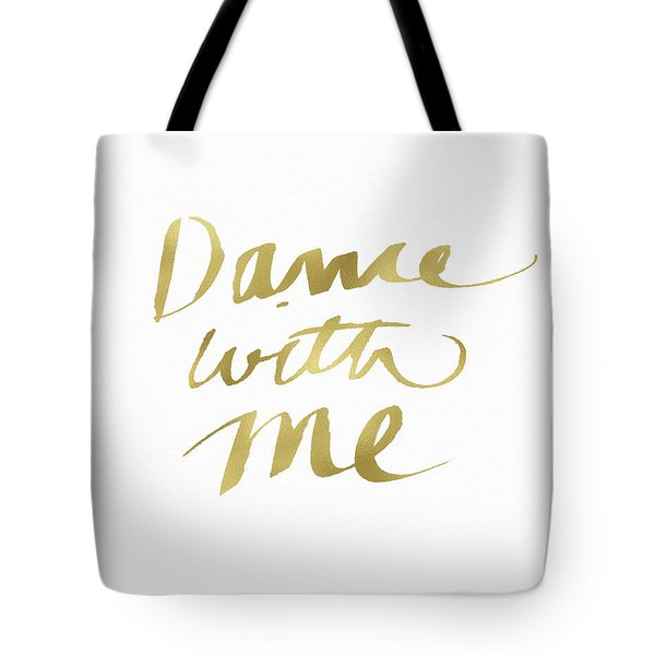 Dance With Me Gold- Art By Linda Woods Tote Bag