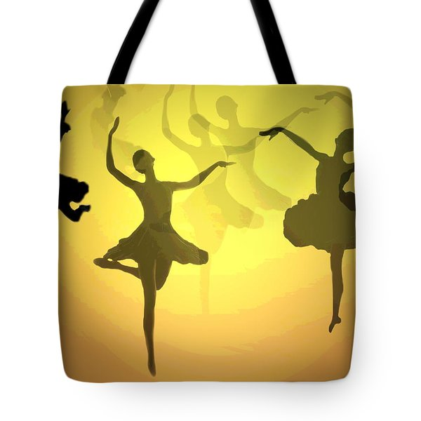 Dance With Us Into The Light Tote Bag by Joyce Dickens