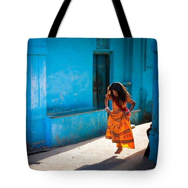 Dancer In The Light Tote Bag by Marji Lang