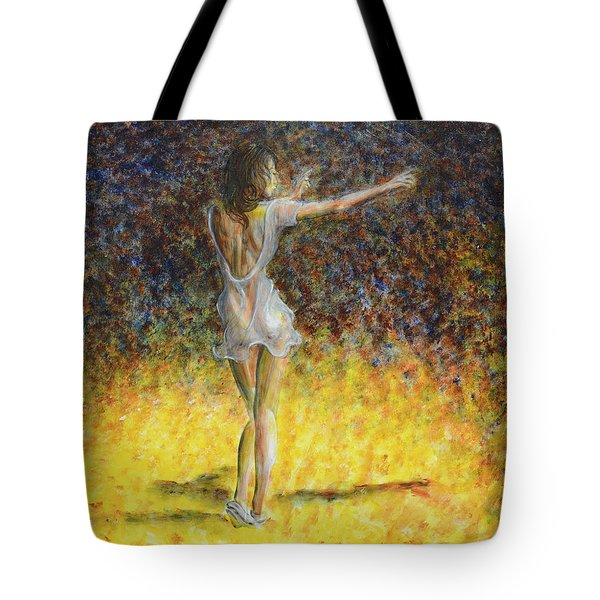 Dancer Spotlight Tote Bag