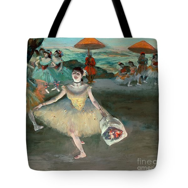 Dancer With Bouquet Tote Bag by Edgar Degas