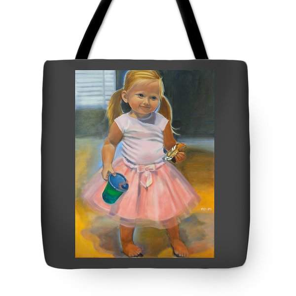 Dancer With Sippy Cup Tote Bag