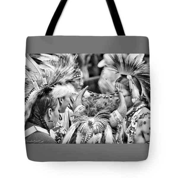 Dancers And Friends Tote Bag by Clarice  Lakota