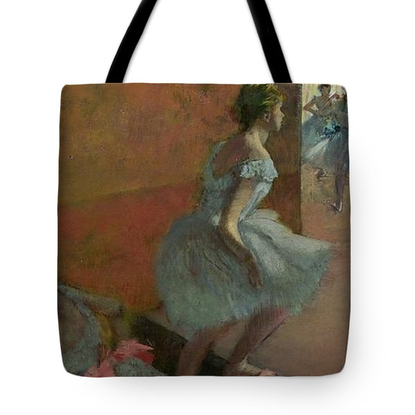 Dancers Ascending A Staircase Tote Bag by Edgar Degas