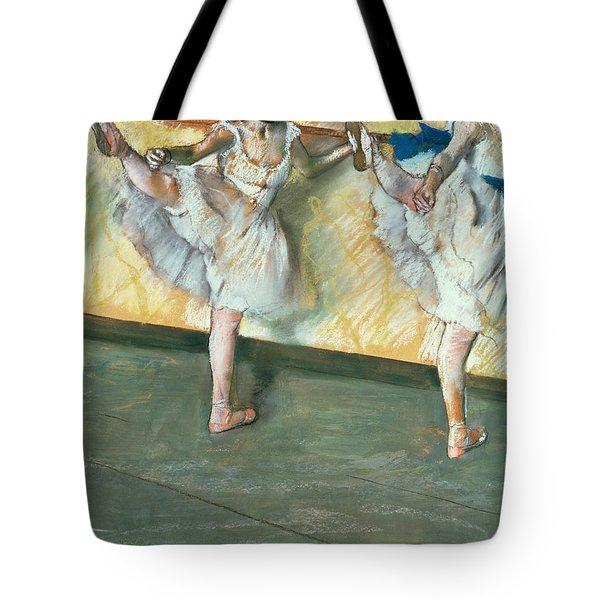 Dancers At The Bar Tote Bag by Edgar Degas