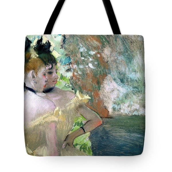 Dancers In The Wings  Tote Bag by Edgar Degas