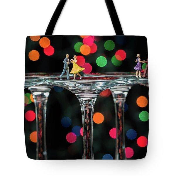 Dancers On Wine Glasses Tote Bag