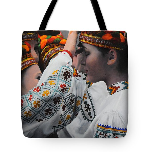 Dancers Preparing Tote Bag