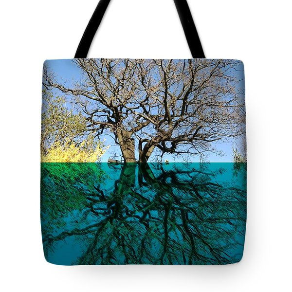 Dancers Tree Reflection  Tote Bag
