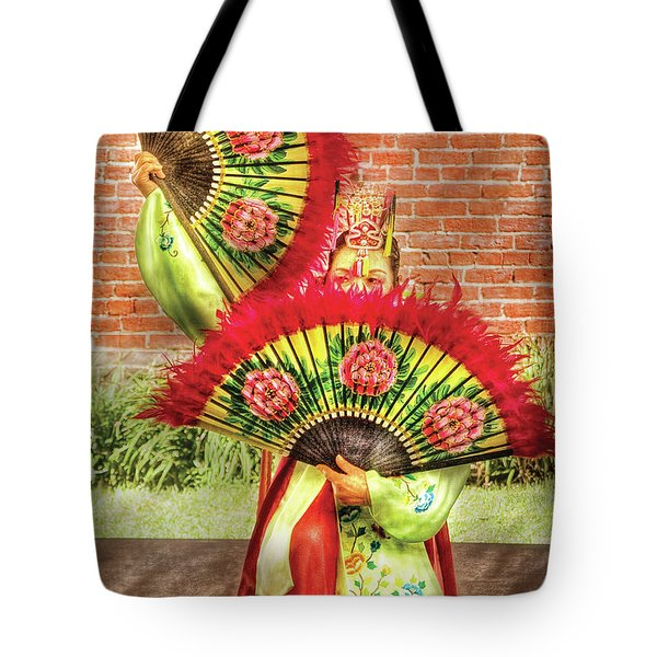 Dancing - The Fan Dance Tote Bag by Mike Savad