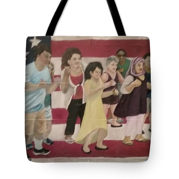 Dancing Americans Tote Bag by Saundra Johnson