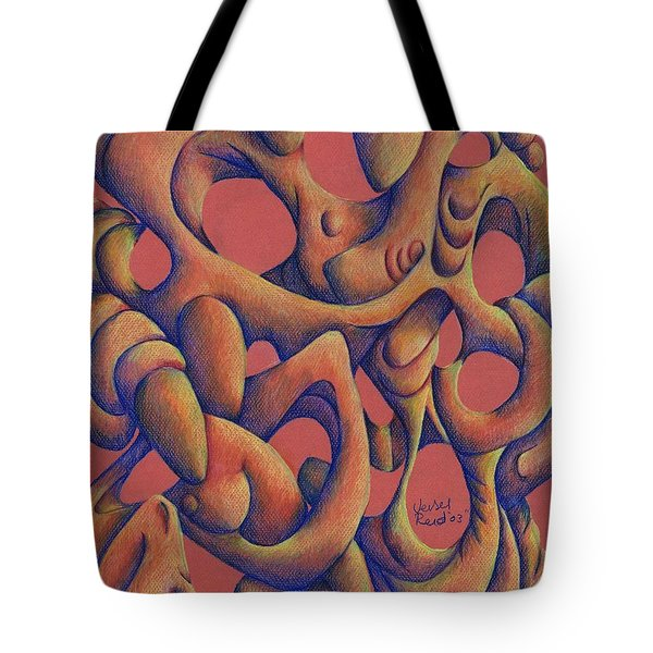 Dancing At A Wedding Reception Tote Bag by Versel Reid