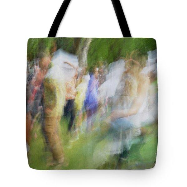 Dancing At The Music Festival Tote Bag
