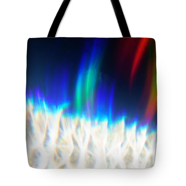 Tote Bag featuring the photograph Dancing At The North Pole by Greg Collins