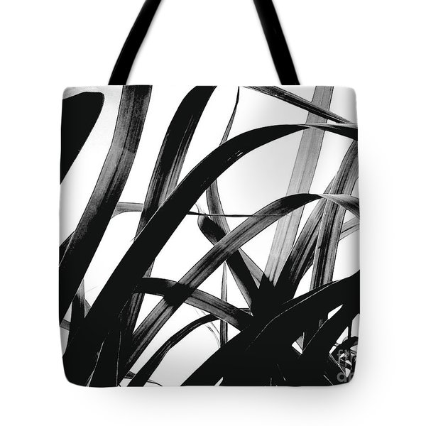 Tote Bag featuring the photograph Dancing Bamboo Black And White by Rebecca Harman