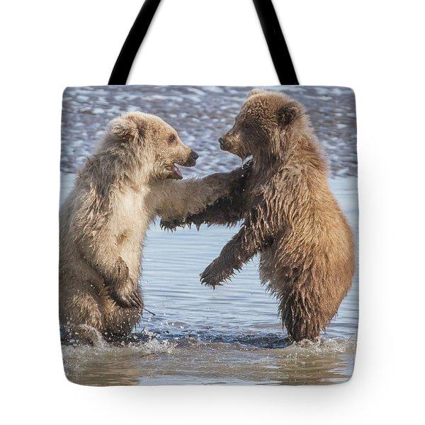 Dancing Bears Tote Bag
