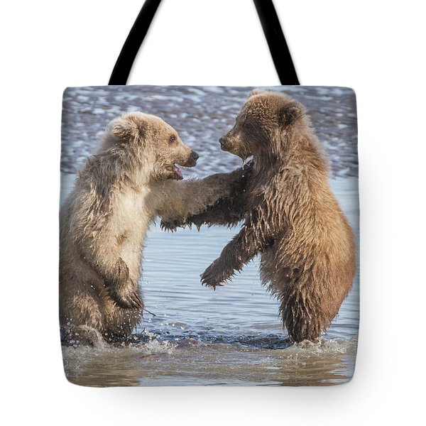 Dancing Bears Tote Bag by Chris Scroggins