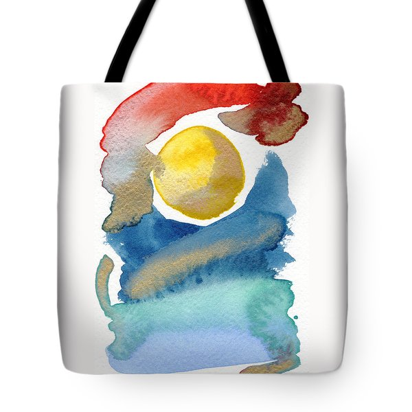 Tote Bag featuring the painting Dancing by Bee-Bee Deigner