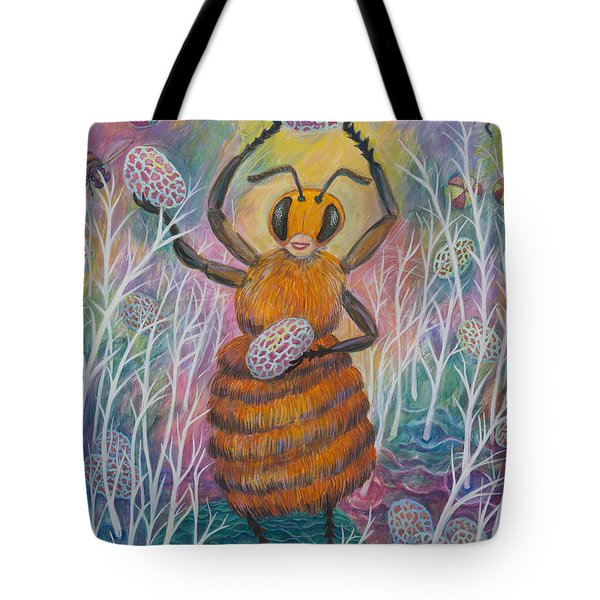 Dancing Bee Tote Bag