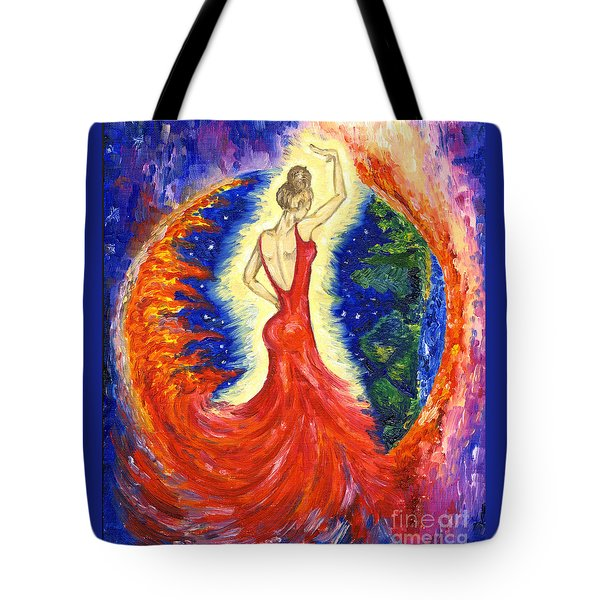 Dancing Between Two Worlds Tote Bag