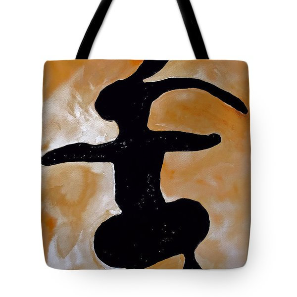 Dancing Bunny Tote Bag