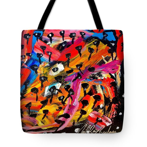 Dancing Car Keys Tote Bag