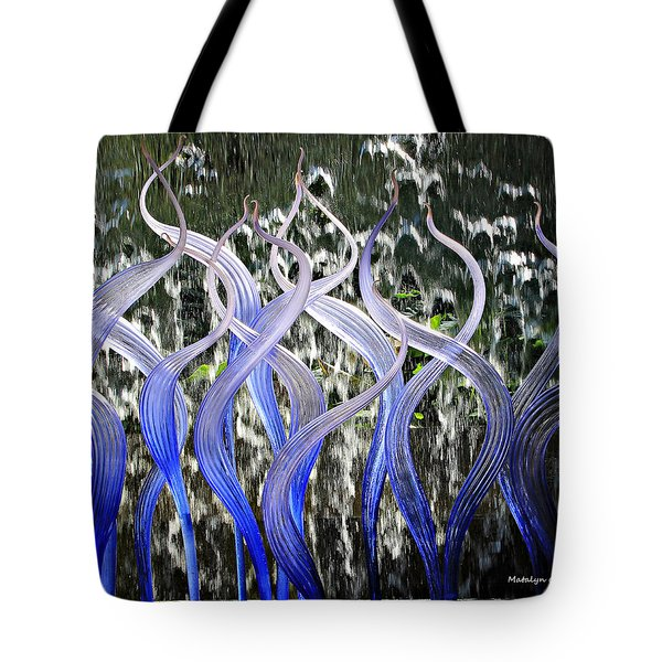Tote Bag featuring the photograph Dancing Chihuly  by Matalyn Gardner