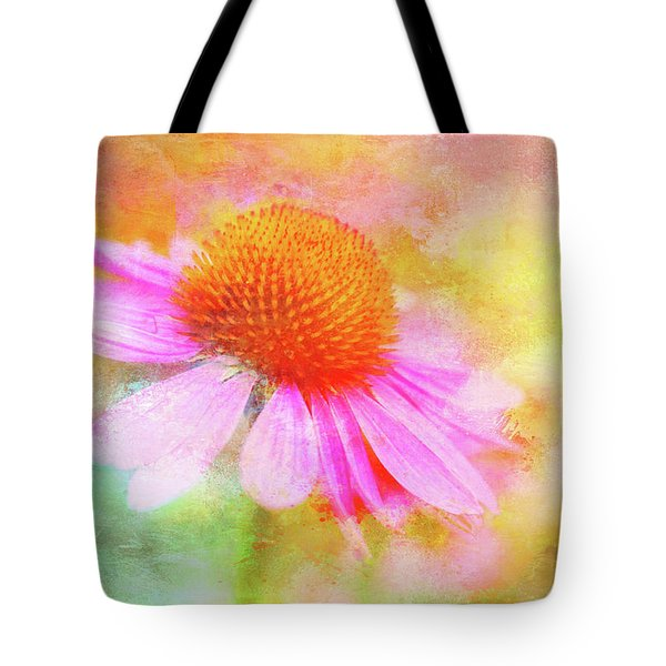 Dancing Coneflower Abstract Tote Bag