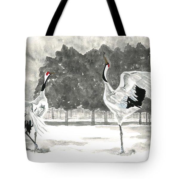 Dancing Crane II Tote Bag