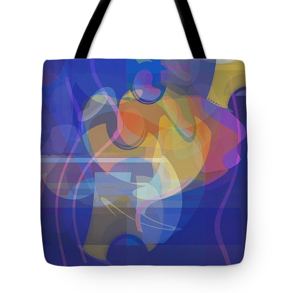 Tote Bag featuring the painting Dancing Days by David Klaboe