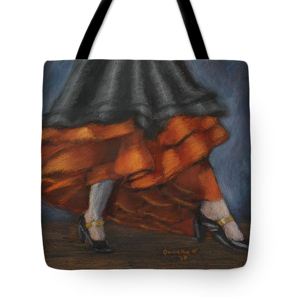 Dancing Feet Tote Bag by Quwatha Valentine