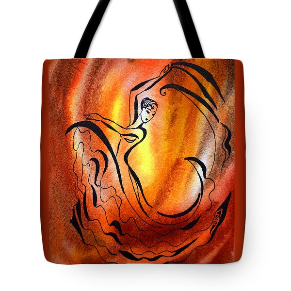 Dancing Fire I Tote Bag