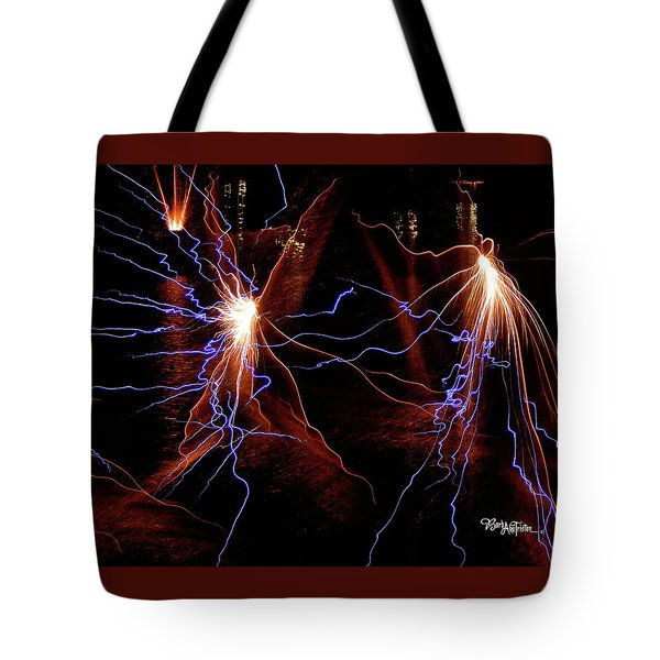 Dancing Fireworks #0707 Tote Bag