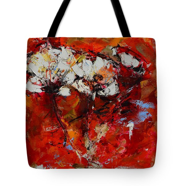 Dancing Flowers Tote Bag by Elise Palmigiani
