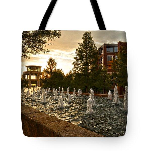 Dancing Fountain Tote Bag