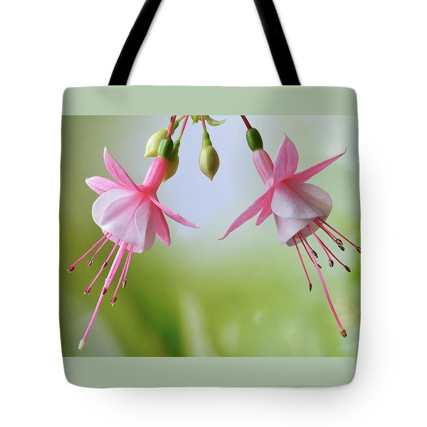 Tote Bag featuring the photograph Dancing Fuchsia by Terence Davis