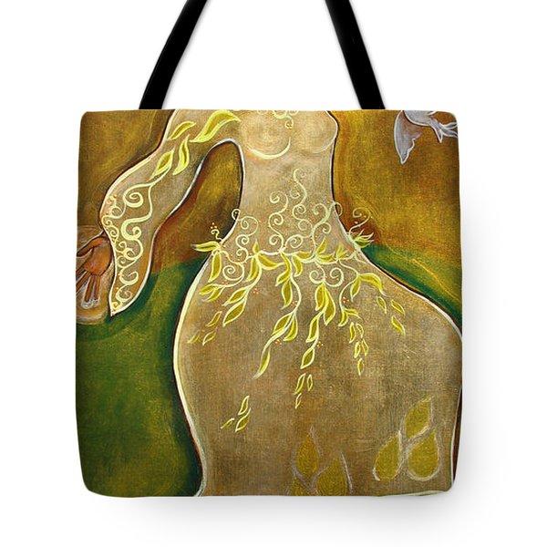 Dancing Her Prayers Tote Bag by Shiloh Sophia McCloud