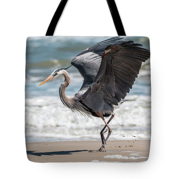 Dancing Heron #2/3 Tote Bag by Patti Deters