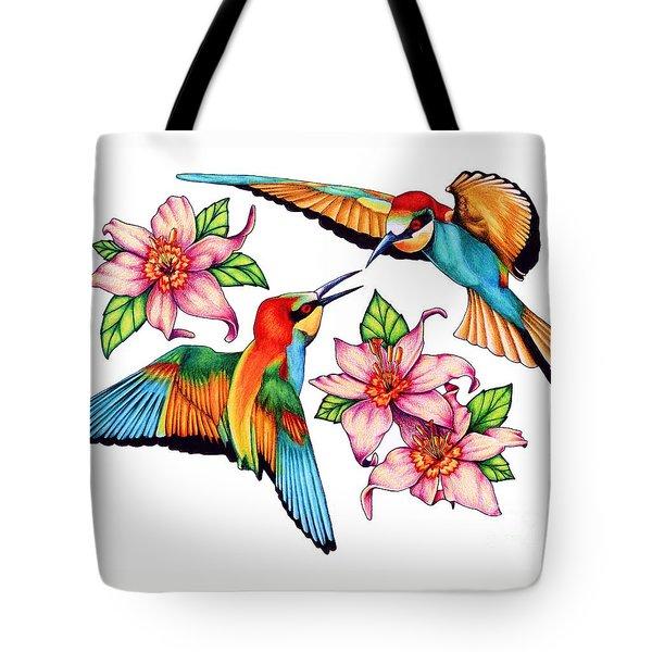 Dancing Bee-eaters  Tote Bag