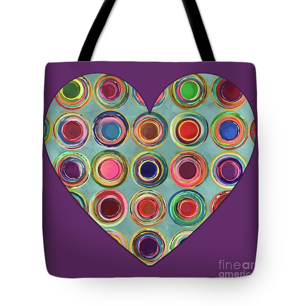 Dancing In Circles Heart Tote Bag by Carla Bank