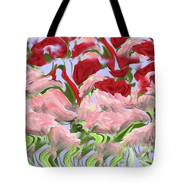 Dancing In The Garden Tote Bag by David Dehner